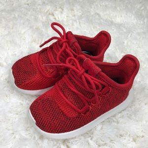 """Red Toddler Adidas """"Tubular"""""""